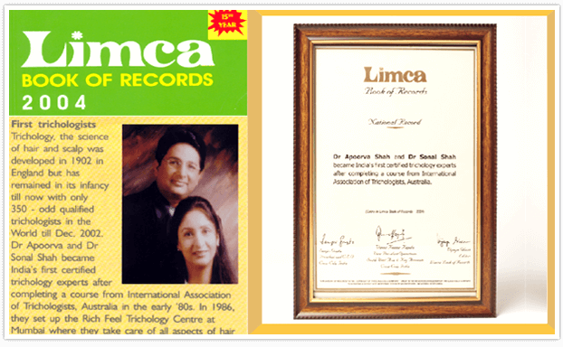 richfeel limca book of records 2004