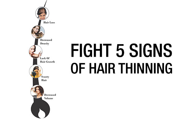 5 signs of hair thinning