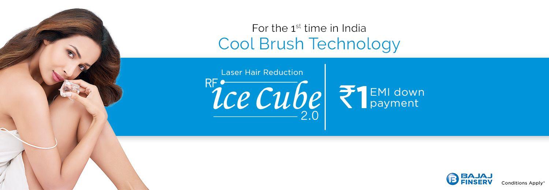 Laser ice cube