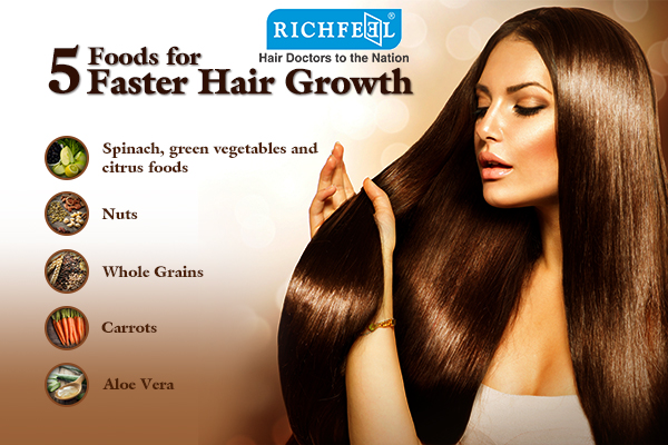 5 foods for hair grwoth