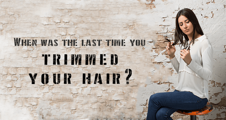 When was the last time you trimmed your hair?